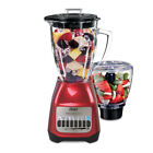 Oster Classic Series Blender PLUS Food Chopper - Red Metallic - Glass Jar cheap