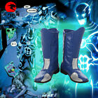 DFYM The Flash Blue Flash Cosplay Boots Shoes Custom Made