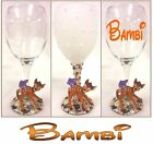 "PEARL DECORATIVE / DRINKING WINE GLASS WITH DISNEY'S ""BAMBI"" FIGURE"