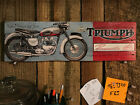 Distressed Triumph Bonneville 126 Wooden Sign $25.95 USD on eBay