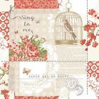 Arthouse Vip Bird Cage Floral Typography - Sing To Me Red Wallpaper 671300