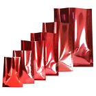 100pcs Variety of Sizes for Glossy Red Open Top Pouch w/ Tear Notch M4