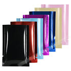 100  Black Red Blue Rose Pink Kraft Glossy Foil Open Top Pouch w/ Tear Notch M42