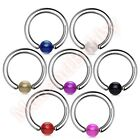 316L Surgical Steel Captive Ring UV Ball Body Piercing Jewellery