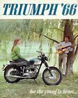 08019 1966 TRIUMPH MOTORCYCLE AD ART PRINT €17.95 EUR on eBay