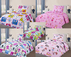 NEW 2PC KIDS TWIN PRINTED QUILT SET BEDSPREAD BEDDING DRESSING WITH PILLOW CASE