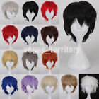 Unisex Anime Fashion Short Wig Cosplay Party Hair Cosplay Full Wig Pink White US
