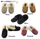 Moccasins Genuine Australian Sheepskin Lambskin Slippers Boot Mens Womens Ladies