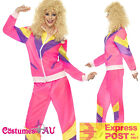 Ladies 80s Height Of Fashion Pink Shell Suit Tracksuit Costume 1980s Womens 80's