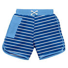 Classic Pocket Board Shorts w/Built-in Reusable Absorbent Swim Diaper-Royal S...