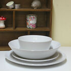 Ceramic Dinnerware Set of 4 or 16 Round Stoneware Serving Plate Bowls Dining