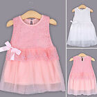 Flower Girls Princess Dress Kids Baby Party Pageant Lace Bow Tulle Tutu Dresses