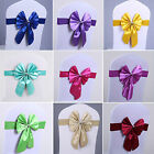 10 30 50 Stretch Wedding Banquet Party Chair Cover Sash Buckle Slider Bowknot