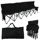 Portable 6 Seater Folding Sport Bench Outdoor Camping Game Iron Pipe 600D Oxford