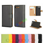 For HTC One Phone Spin Leather Luxury Magnetic Wallet Card Holder Case Cover New