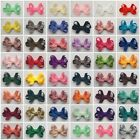 "Handmade 1.5"" PREEMIE BABY BOW with VELCRO® Butterfly Ribbon Hair Clips bobbles"