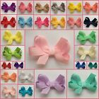 Baby/Girls Handmade Mini 2 inch Butterfly Hair Bow Clips bobbles **40 COLOURS**