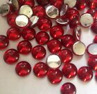 15 x Acrylic Ruby Cabochons - Round 7 mm approx - silver backed