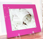 "Acrylic perspex gloss magnetic desk picture photo frame for a 10X8"" all colours"