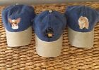 EMBROIDERED AKC DOG BREED LOVER TWO TONE DENIM BASEBALL CAPS HATS (BREEDS A-C)
