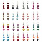 Crispin Ball Drop Earrings Thread Wrapped Pendant Luxe Jewelry For Party Dresses