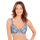 Charnos Bailey Padded Plunge Bra in Blue RRP £28