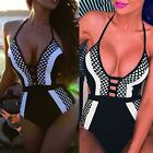 Sexy Women One Piece Swimsuit Swimwear Bathing Monokini Push Up Padded Bikini TU