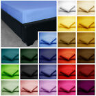 Easycare Non Iron Plain Dyed Polycotton FITTED SHEET EXTRA DEEP 40cm (16 Inches)
