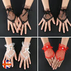 Womens Sexy Lace Bridal 1920'S Gatsby Fancy Dress Evening Fingerless Gloves