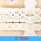 Pattern Puzzle Toy Rotation Coloring Paper For Kids Painting Books DIY Toys