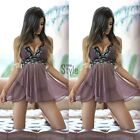 Sexy G-string Underwear Lingerie Nightgown Sleepwear HOT Women Babydoll Dress LF