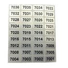 1000pcs Consecutive Sequential Numbering Labels Number Stickers - Number Choice