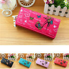 Graceful Women Butterfly PU Leather Cards Holder Clutch Wallets Coin Purse Bag