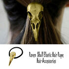 New Gothic Raven Skull Elastic Hair Rope Hair Accessories Jewelry Gift  Lady