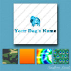Custom Keeshond Dog Name Decal Sticker - 25 Printed Fills - 6 Fonts