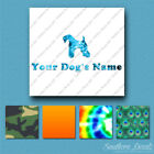 Custom Kerry Blue Terrier Dog Name Decal Sticker - 25 Printed Fills - 6 Fonts