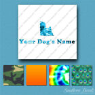 Custom Yorkshire Terrier Dog Name Decal Sticker - 25 Printed Fills - 6 Fonts