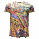 Eight X Men's Cotton Blend Tribal Printed Casual Graphic T-Shirt Multi-Color
