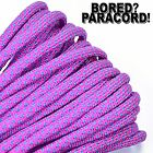 Neon Pink Baby Blue Diamonds - 550 Paracord Rope 7 Strand - 10ft 25ft 50ft 100ft