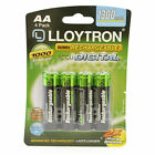 Lloytron AA Rechargeable Batteries NiMH 1300mAh Ready Charged LR03 HR03 <br/> Quantity Available in 2, 4, 8, 12, 16 Batteries
