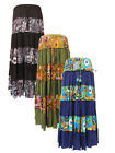 New Tiered Hippie Maxi Skirt Full Skirt up to Plus Size