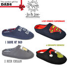 MENS NOVELTY SLIP ON CASUAL FLAT WARM SLIPPERS MULES UK SIZE 7 8 9 10 11 12