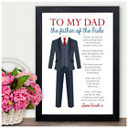 To My Dad Wedding Favour Father of the Bride Personalised Thank You Gifts Poem