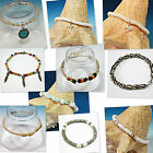 CLOSEOUT SINGLE PIECES Assorted Bracelets & Anklet HEMP SHARK TOOTH PUKA SHELL
