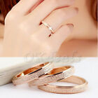 1PC Band Ring Pomellato Rose Gold Frosted Wedding Stainless Steel Women Size5-12