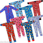 Kids Boys Girls Pyjamas Character All In One Bodysuit Thomas Disney Frozen
