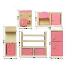 Kids Miniature Dollhouse Furniture Set Wooden House Family Pretend Play Toy Doll