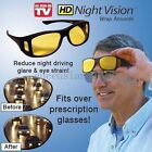 hd vision wraparound sunglasses - HD Vision Wrap Around Sunglasses Day Vision Driving Night Anti Glare Glasses B/Y
