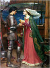 Tristan and Isolde by John Waterhouse (Classic Myth Art Print)