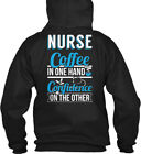 tim horton coffee online - Online Sale Exclusive! - Nurse Coffee In One Hand Gildan Hoodie Sweatshirt